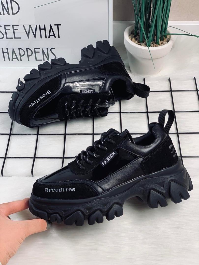 Чисто черные кроссовки 3099 (ПП)