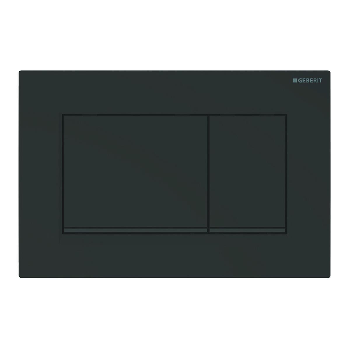 Смывная клавиша Sigma 30, двойной смыв, черный матовый, легко чистящееся покрытие, черный