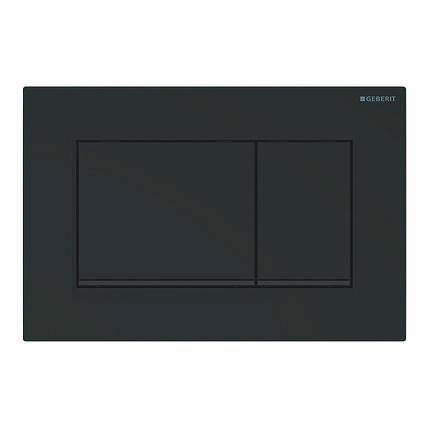 Смывная клавиша Sigma 30, двойной смыв, черный матовый, легко чистящееся покрытие, черный, фото 2