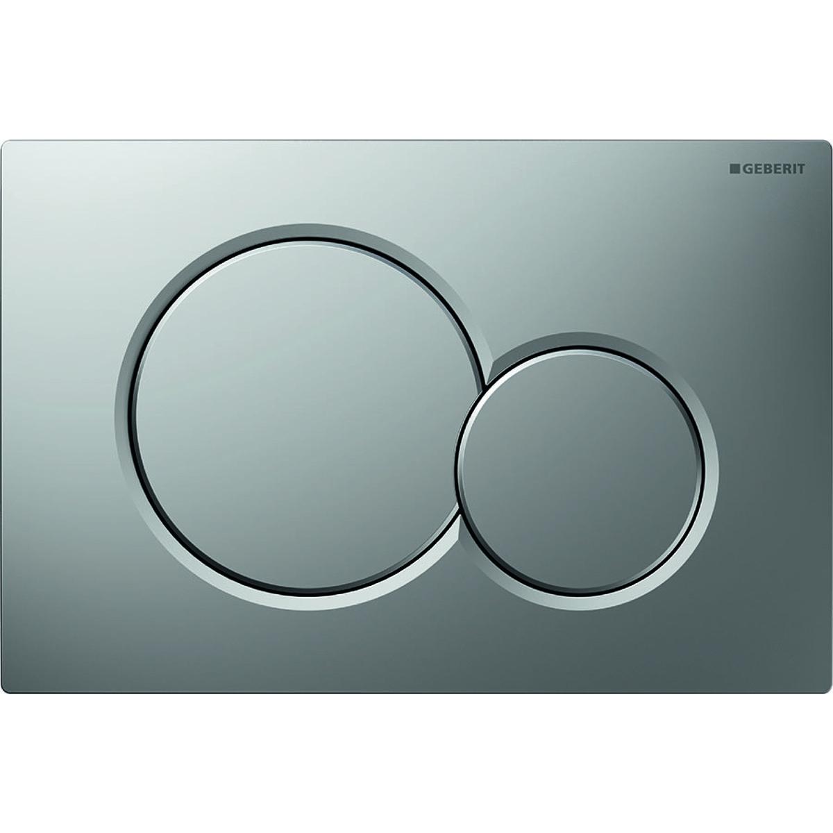"""Смывная клавиша """"Sigma01"""", для двойного смыва: лакированный матовый хром, с легкоочищаемой поверхностью,"""