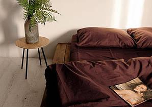 Однотонное постельное белье, шоколадный GOLD сатин, размер 1,5