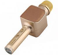 Беспроводной портативный Bluetooth микрофон для караоке Magic Karaoke YS-68 + колонка 2 в 1 Gold, фото 1