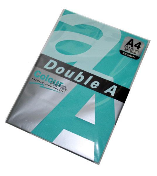 Папір кольоровий А4 Double A 80г/м2, 25 аркушів