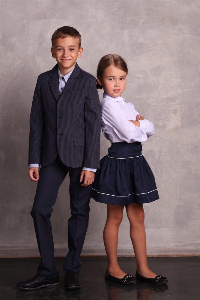Дитячий піджак для хлопчика Шкільна форма для хлопчиків JBE Італія 151BHAT0045