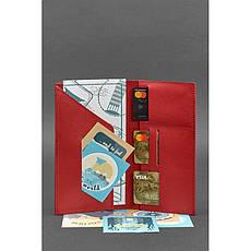 Шкіряний жіночий тревел-кейс 3.1 Червоний, фото 2