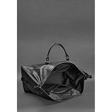 Шкіряна дорожня сумка чорна, фото 3