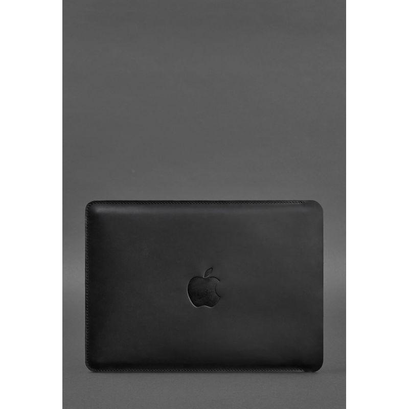 Кожаный чехол для MacBook Pro 15''-16''(2020) Черный