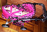 Коляска для кукол демисезонная 9672 Melogo с люлькой переноской, фото 9