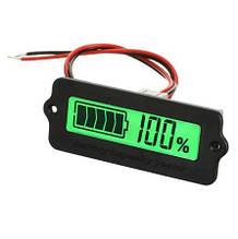 Индикатор уровня заряда аккумулятора врезной ЖКИ, зеленый
