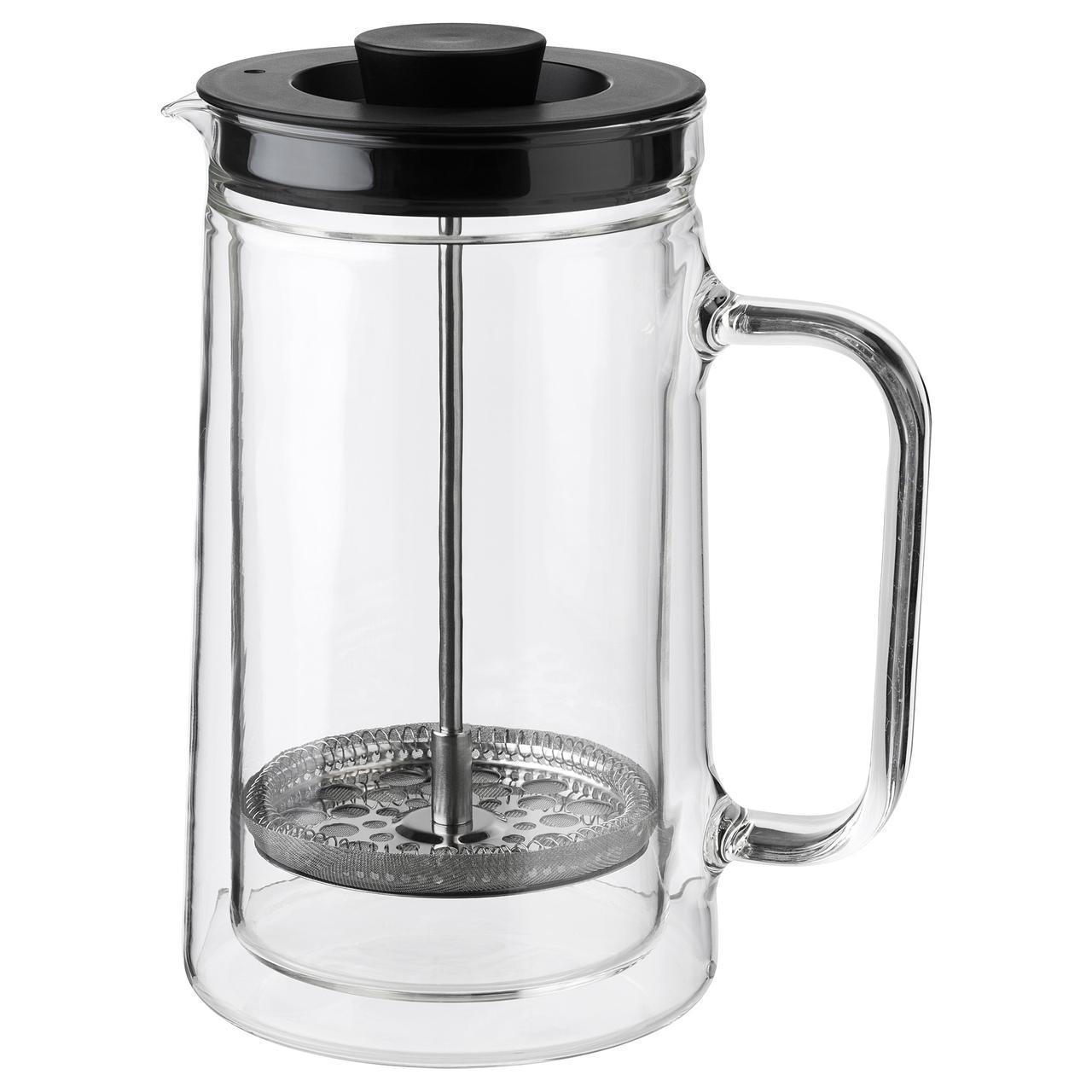 IKEA EGENTLIG (903.589.76) Кофе-пресс/заварочный чайник, двойная стенка, прозрачное стекло