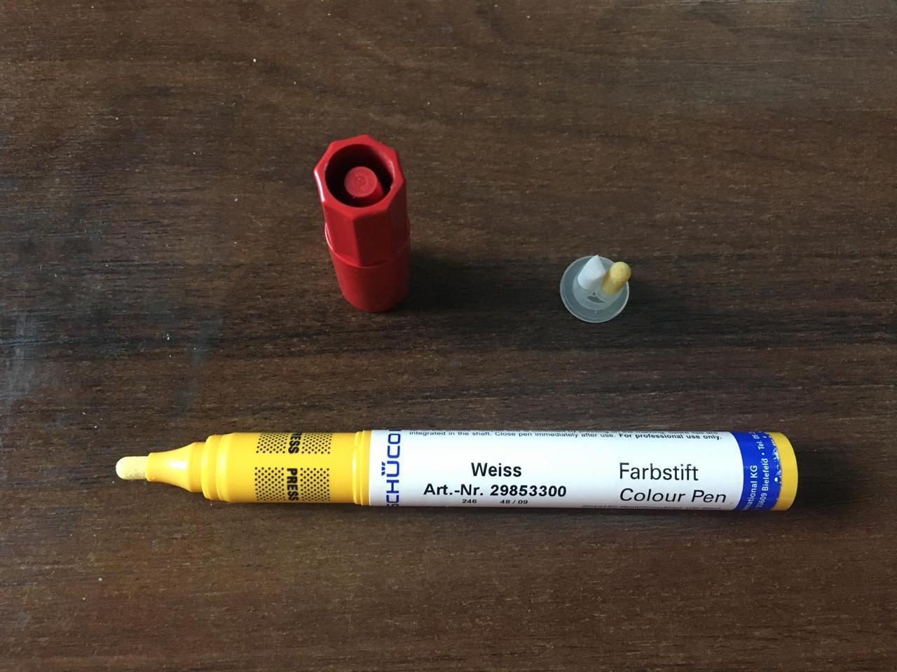 Маркер карандаш ретуширующий для металлопластиковых окон и дверей Schuco цвет белый Art.-Nr. 29853300
