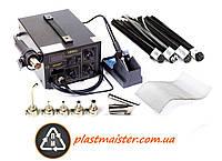 Термовоздушная паяльная станция для пайки пластика два в одно - 852D+ 6 насадок + пластика + сетка