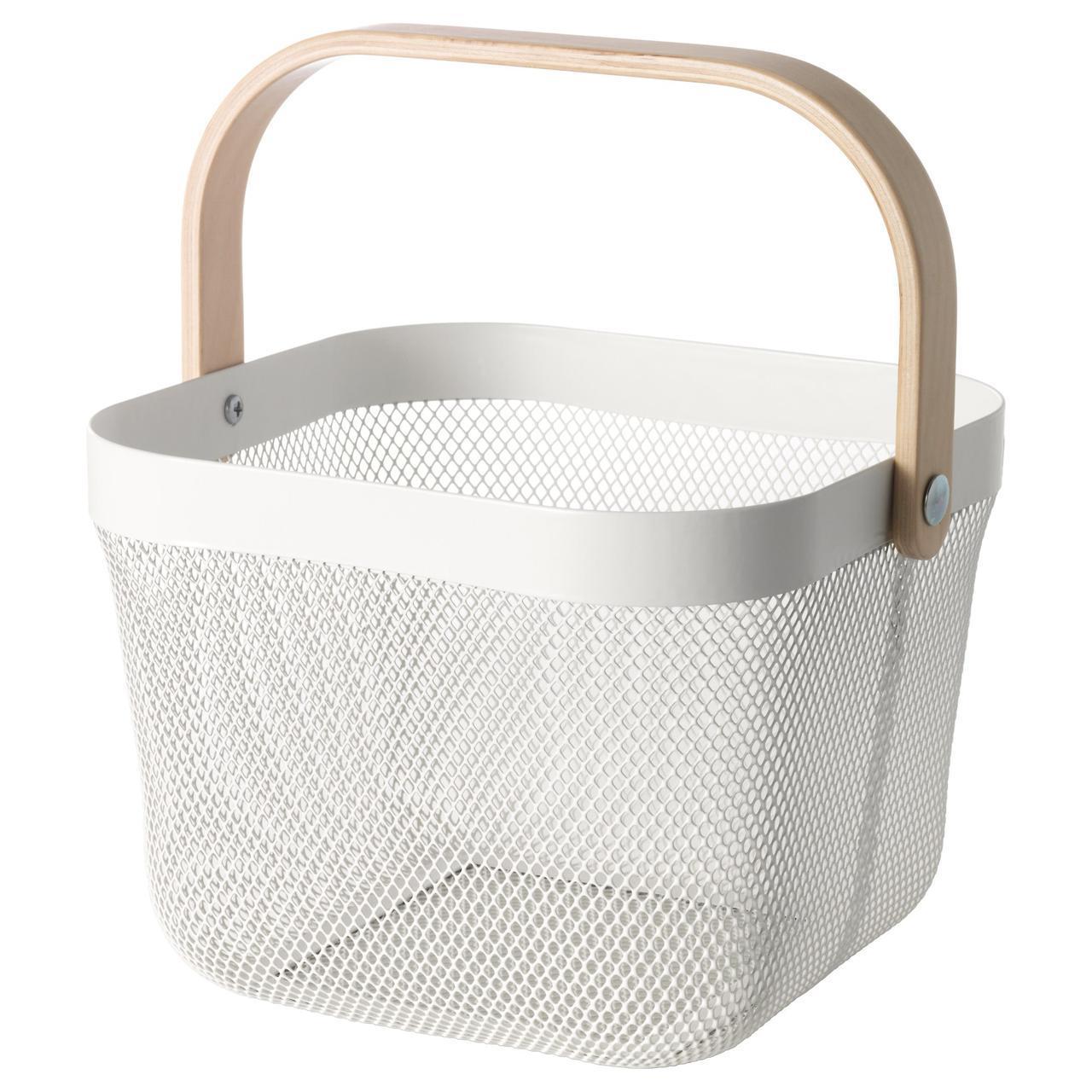 IKEA RISATORP (902.816.18) Корзина, белая
