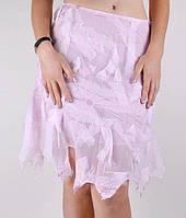 Дизайнерская розовая юбка на подкладке Elizabeth