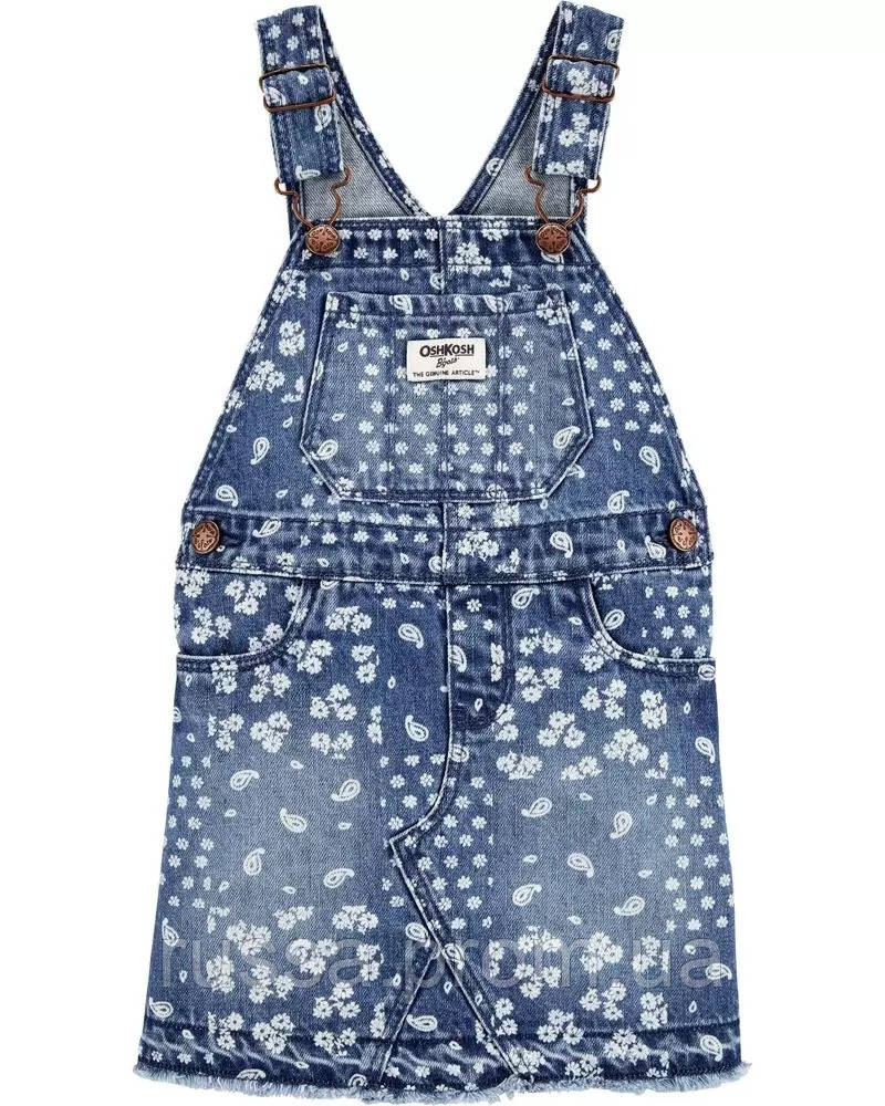 Детский джинсовый сарафан в цветочки ОшКош для девочки