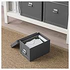 IKEA FJALLA (703.956.73) Коробка с крышкой, темно-серый, фото 3