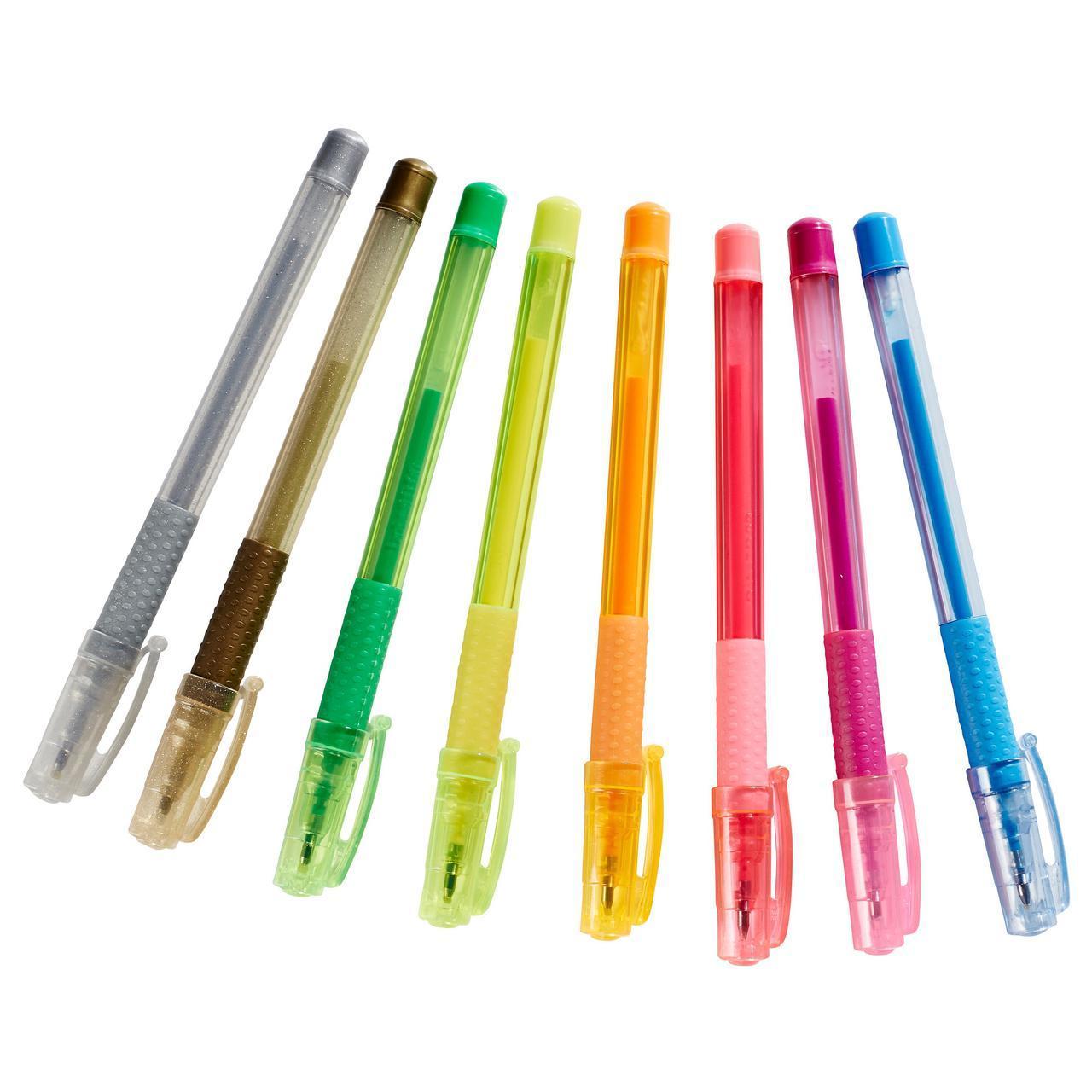 IKEA MALA (202.661.74) Гелевые ручки, разные цвета, разные цвета