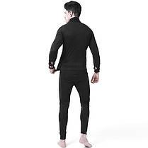 Спортивное термобелье Lesko A154 M Black для активного отдыха мужское термо костюм, фото 3