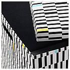 IKEA TJENA (103.745.22) Коробка с крышкой, черный/белый, фото 2