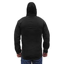 Тактическая куртка Soft Shell ESDY A001 Black M мужская влагозащищенная ветрозащитная ветровка камуфляж, фото 2