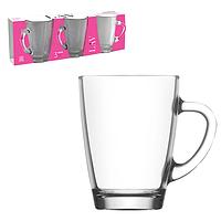 """Стеклянные чашки """"Vega"""" набор 3 шт. (300 мл.)"""