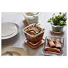 IKEA IKEA 365+ (292.691.11) Контейнер для еды с крышкой, квадратное стекло, стакан бамбука, фото 2