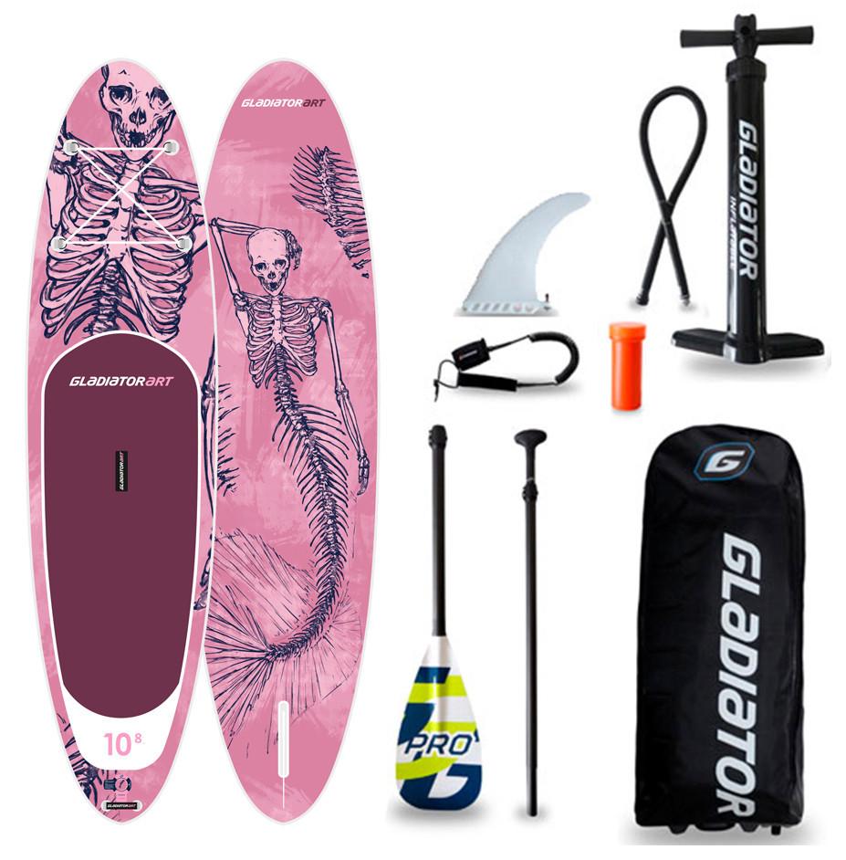 "Сапборд Gladiator ART 10'8"" x 34"" MERMAID - надувна дошка для САП серфінгу, sup board"