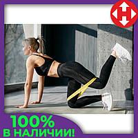 Фитнес резинка в наборе 3 цвета (черный, желтый, синий) спортивная резинка для тренировок Raciness, фото 1