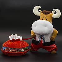 Мягкая игрушка символ года Бычок Бульба №6-I/2 300 грамм