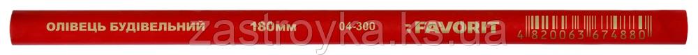 Карандаш строительный 180мм Favorit | 04-300