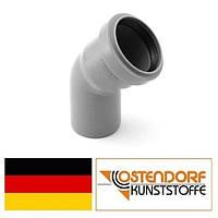 Колено PP 50х45 внутренней канализации Ostendorf HT Германия