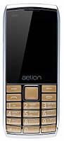 Кнопочный телефон недорогой с хорошим аккумулятором большой емкости и большим экраном AELion A600 Metal/Gold