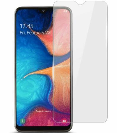 Гидрогелевая защитная пленка на Samsung Galaxy A20e на весь экран прозрачная