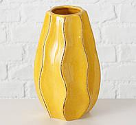 Ваза Хилари желтая керамика h18см Гранд Презент 1021327, фото 1
