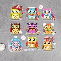 Термотрансферні Наклейки для Тканини The winter's OWLS