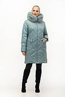 Женская зимняя куртка 155-2ПЧ Мята (48-58), фото 1