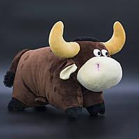 Сладкий подарок в мягкой игрушке Подушка Бычок №6-I/3 300 грамм