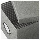IKEA KVARNVIK (104.128.78) Коробка с крышкой, серый, фото 2
