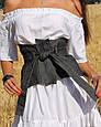 Джинсовый пояс - корсет Баска Черный, фото 5