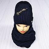 М 5062 Комплект жіночий-підлітковий шапка+хомут, марс,фліс розмір вільний, фото 7