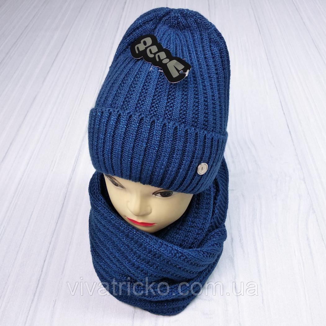 М 5062 Комплект жіночий-підлітковий шапка+хомут, марс,фліс розмір вільний