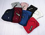 М 5062 Комплект жіночий-підлітковий шапка+хомут, марс,фліс розмір вільний, фото 10