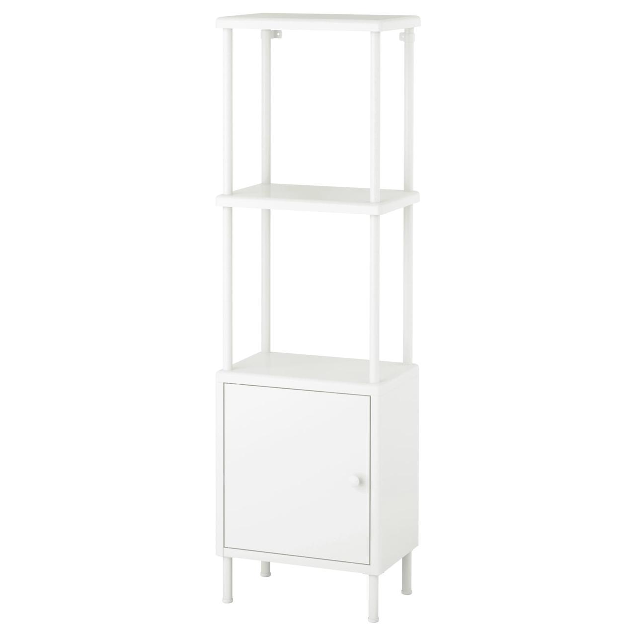 IKEA DYNAN (091.833.97) Стеллаж с шкафом, белый
