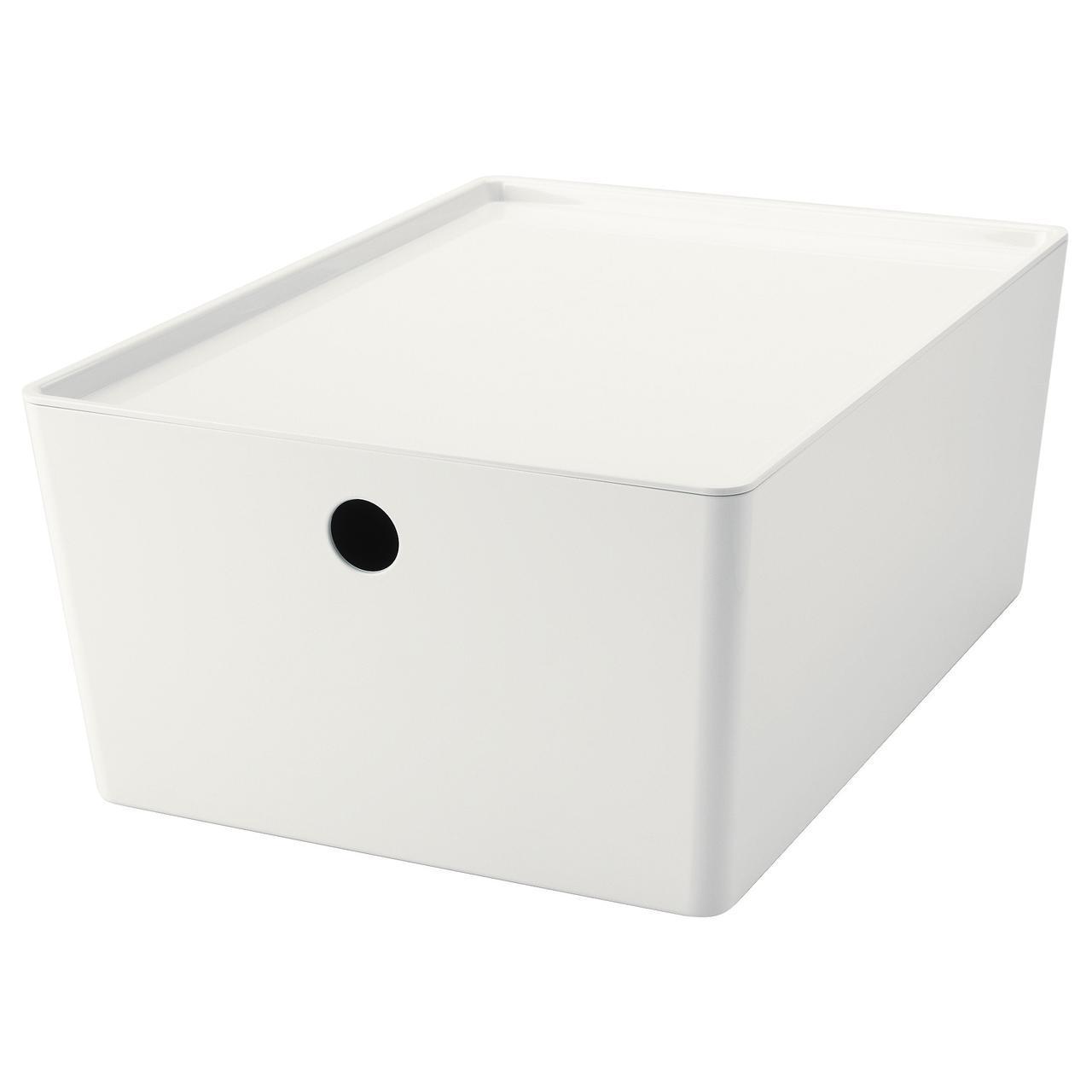 IKEA KUGGIS (602.802.05) Коробка с крышкой, белая