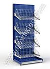 Стеллаж с сетчатыми корзинами 1900х950 мм, приставной торговый стеллаж  Ристел, фото 9
