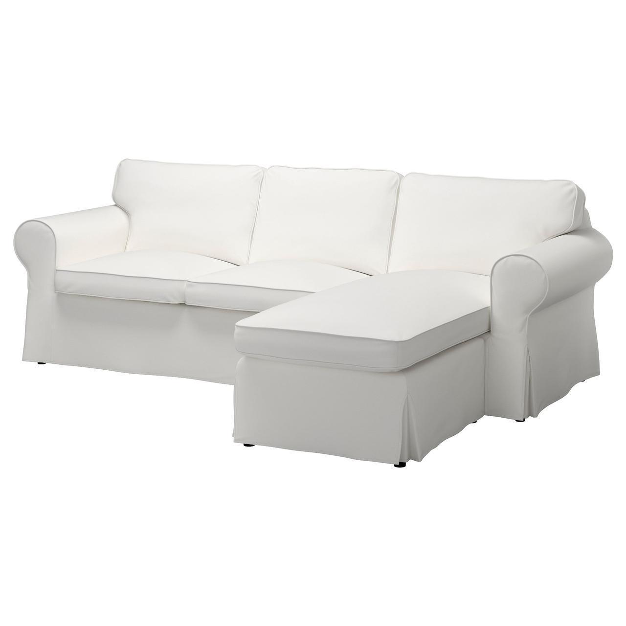 IKEA EKTORP (391.291.58) 3-местный диван, Lofallet с шезлонгом, Lofallet