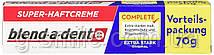 Фиксирующий крем Blend-a-dent (Kukident) Super-Haftcreme Complete extra stark для зубных протезов 70g