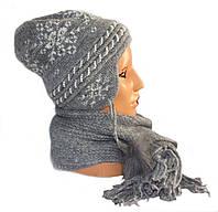 Шапка женская с шарфом № Б5