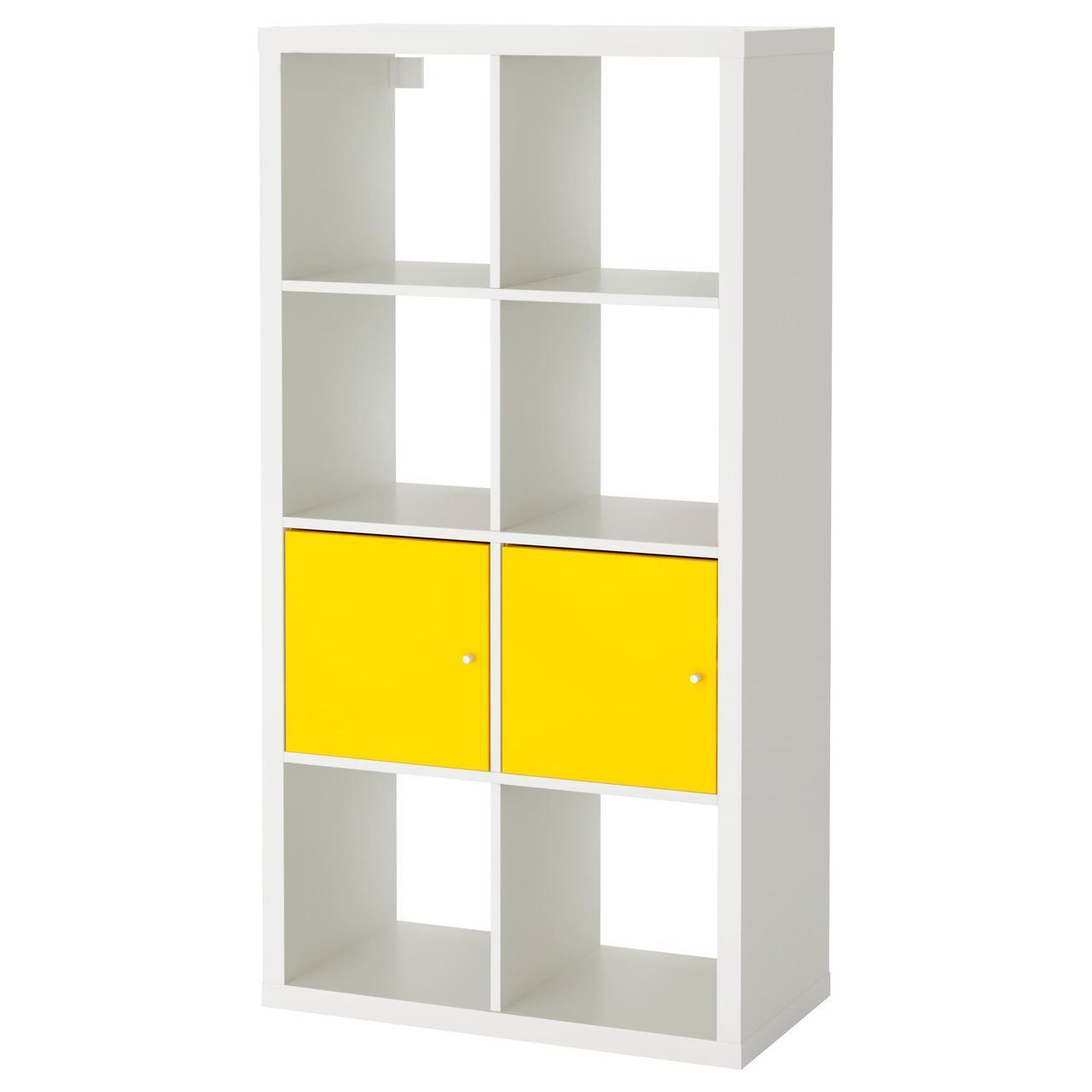 IKEA KALLAX (891.555.07) Шкаф с дверями, czarnobraz
