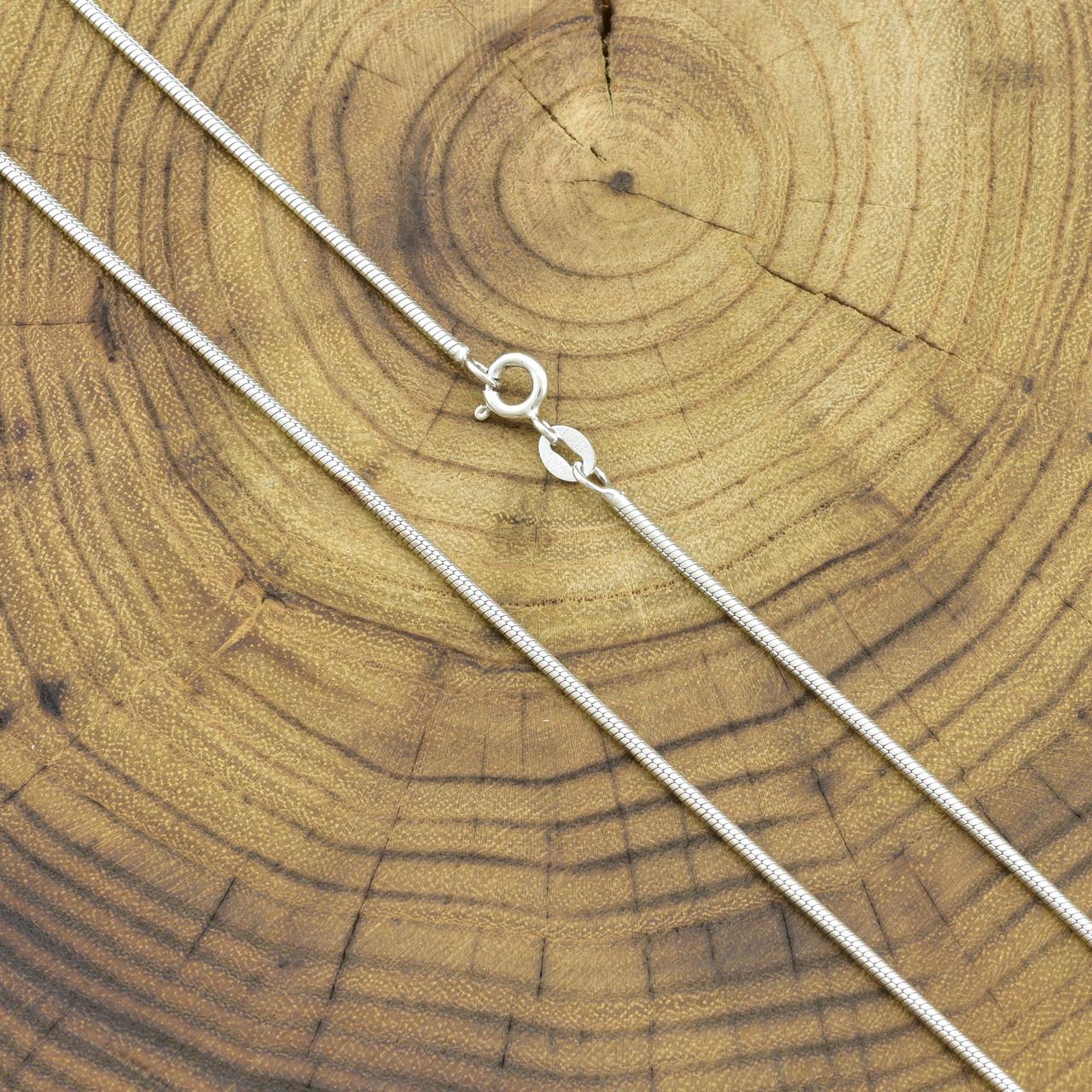 Серебряная цепочка Змейка длина 55 см ширина 2 мм вес 9 г